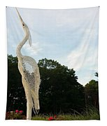 Left Crane Tapestry