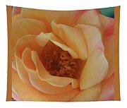 Lemon Blush Rose Tapestry