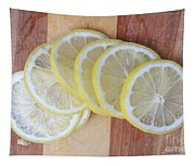 Lemon Slices On Cutting Board Tapestry