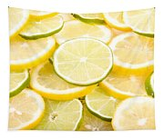 Lemons And Limes Abstract Tapestry