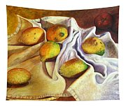 Lemons And Linen Tapestry