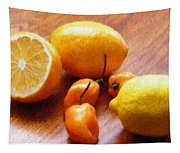 Lemons And Peppers Tapestry