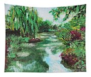 L'etang De Claude Monet, Giverny, France Tapestry