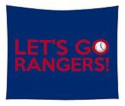 Let's Go Rangers Tapestry