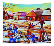 Lets Play Hockey Tapestry