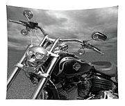 Let's Ride - Harley Davidson Motorcycle Tapestry