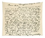 Letter From Abraham Lincoln To Alden Tapestry