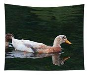 Leucistic Mallard Tapestry