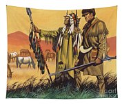 Lewis And Clark Expedition Scene Tapestry