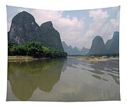 Li River At Xingping Tapestry