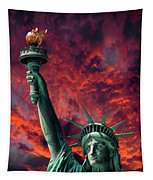 Liberty On Fire Tapestry