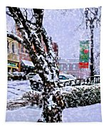Liberty Square In Winter Tapestry