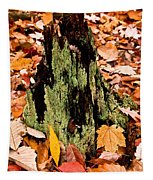 Lichen Castle In Autumn Leaves Tapestry