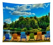 Life In The Adirondack Mountains Tapestry