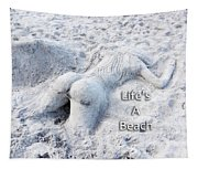 Life's A Beach By Sharon Cummings Tapestry