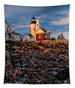 Light At Pemaquid Point Tapestry