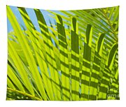 Light Green Palm Leaves Tapestry