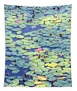 Light On Lily Pads Tapestry