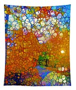 Light On The Autumn Path Tapestry