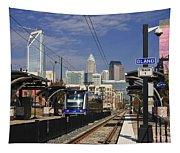 Light Rail In Charlotte Tapestry