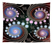 Light Rotate On Spiral Orbit Tapestry