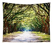 Light Through Live Oak Lane Tapestry