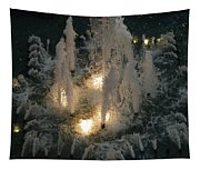 Lighted Fountain Tapestry