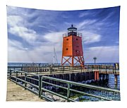 Lighthouse At Charlevoix South Pier  Tapestry