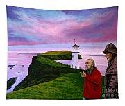 Lighthouse At Mykines Faroe Islands Tapestry
