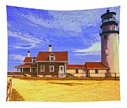 Lighthouse Cape Cod Tapestry