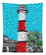 Lighthouse Made Of Lighthouses Mosaic Tapestry