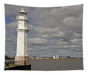Lighthouse On A Sunny Day. Tapestry