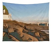 Lighthouse On The Ocean Tapestry