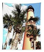 Lighthouse Palms Tapestry