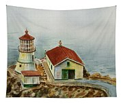 Lighthouse Point Reyes California Tapestry