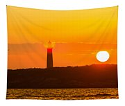 Lighthouse With Flare Tapestry