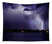 Lightning Bolt Energy Color Tapestry