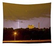 Lightning Bolts Striking In Loveland Colorado Tapestry