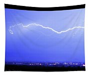 Lightning Over North Boulder Colorado  Poster Sp Tapestry