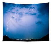 Lightning Rainbow Blues Tapestry