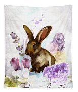 Lilac And Bunny Tapestry