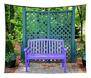 Lilac And Teal Garden Tapestry