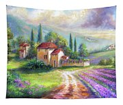 Lilac Fields In The Italian Countryside   Tapestry