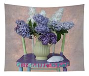 Lilacs With Chair And Shell Tapestry