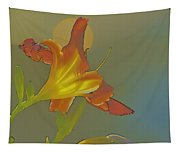 Lily Abstract Medium Background Medium Toned Flower Tapestry