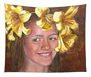 Lily Girl Tapestry