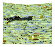 Lily Pad Gator Tapestry