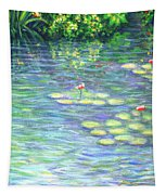 Lily Pads Triptych Panel Three Of Three Tapestry