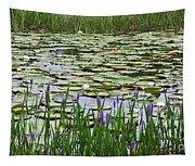 Lily Pond Panorama Tapestry