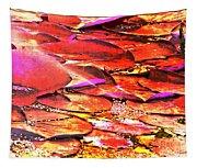 Crimson Lilypads Floating.. Tapestry